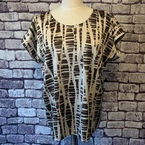 Chico's Size XL Short Sleeve Blouse